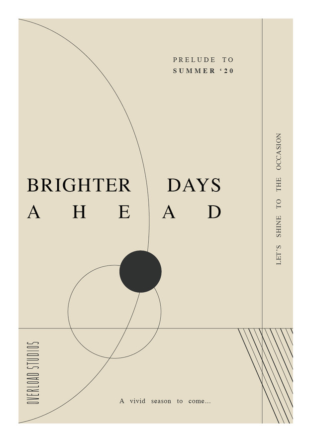 Brighter Days Ahead postcard