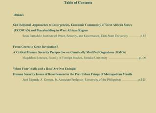 Journal of Human Security Studies Vol.6, No.2. Autumn 2017.