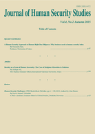 Journal of Human Security Studies Vol.4, No.2, Autumn 2015.