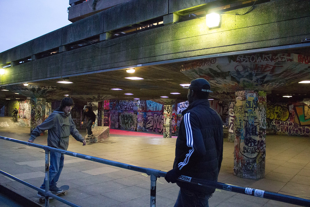 London South Bank skaters