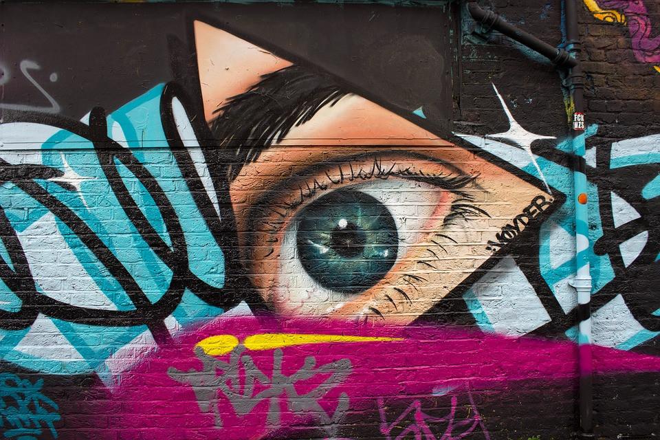 Eye Street Art Graffiti