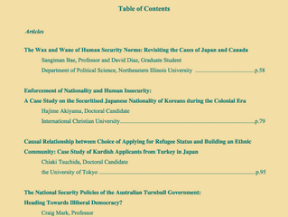 Journal of Human Security Studies Vol.7, No.2. Autumn 2018.