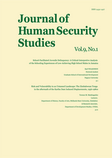 Journal of Human Security Studies, Vol.9, No.1 Spring 2019