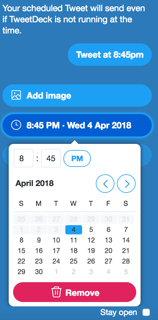 TweetDeck scheduler