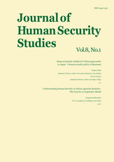 Journal of Human Security Studies, Vol.8, No.1 Spring 2019
