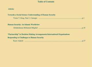 Journal of Human Security Studies Vol.7, No.1. Spring 2018.