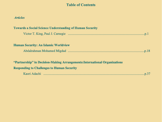 Journal of Human Security Studies Vol.7, No.1. Spring 2018.
