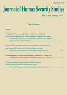 Journal of Human Security Studies Vol.6, No.1. Spring 2017.