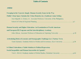 Journal of Human Security Studies Vol.6, No.1. Spring 2017.