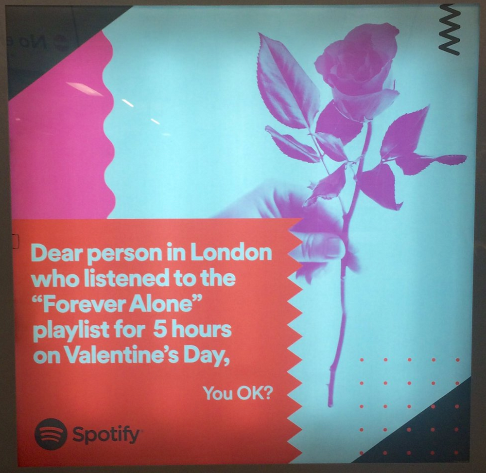 Spotify playlist ads