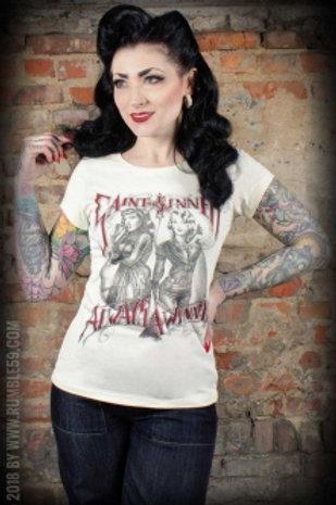Ladies T-Shirt - Saint or Sinner - rose