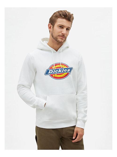 icon logo hoodie white