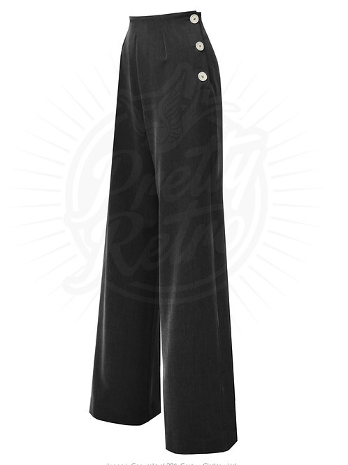 Pretty 40s Swing Pants - Black