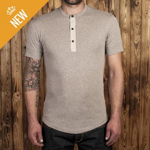 1927 Henley Shirt short sleeve ecru melange 04