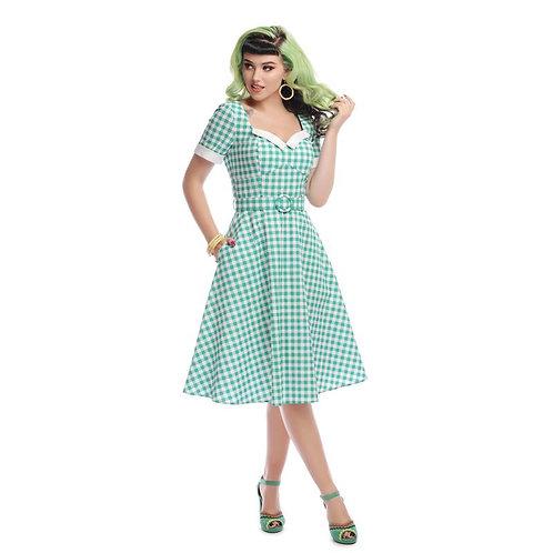 Roberta Gingham Swing Dress