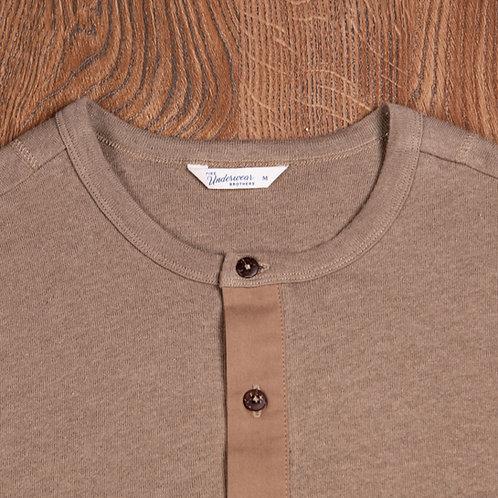 1927 Henley Shirt short sleeve Saramago brown 12