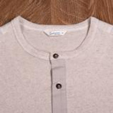 1927 Henley Shirt short sleeve Saramago ecru 02