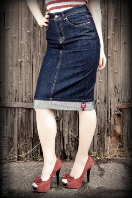 denim perfect pencil skirt