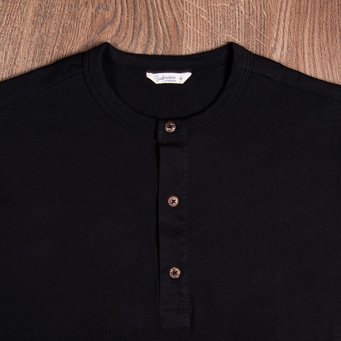 1927 Henley Shirt long sleeve faded black 37