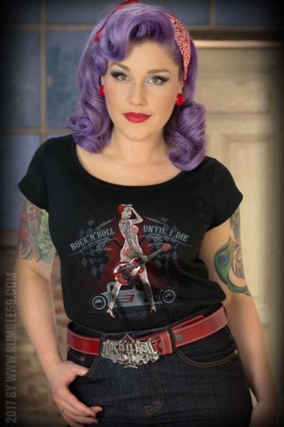 Ladies Scoop Neck Shirt - Until I Die
