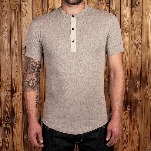1927 Henley Shirt short sleeve Fog brown 09