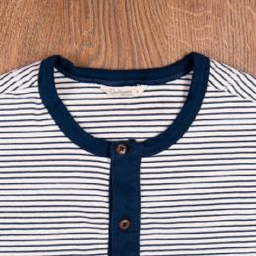 1927 Henley Shirt short sleeve Bongo blue 03
