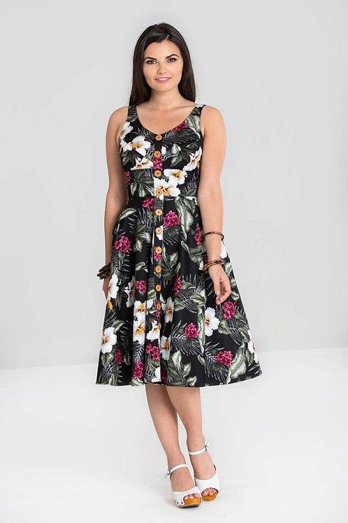 Tahiti 50's Dress black