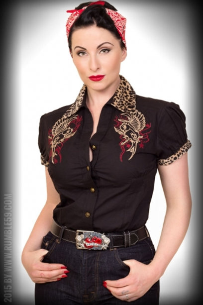 Chemise Heaven 'n' Hell - leo patch