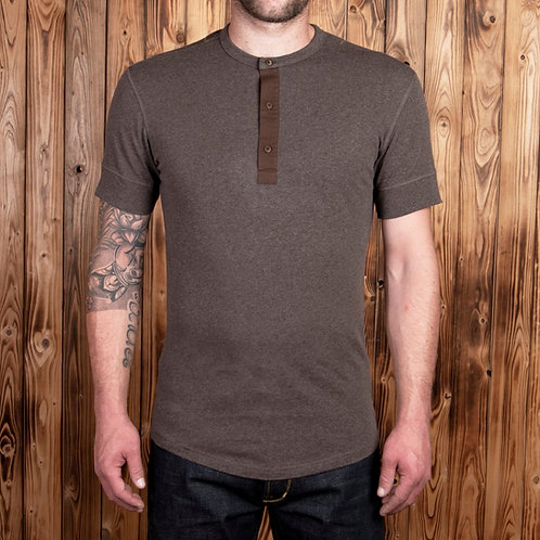 1927 henley short sleeve brown 01