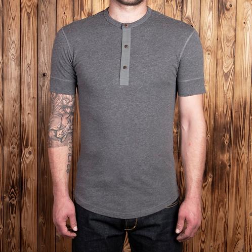 1927 Henley Shirt short sleeve grey melange 06