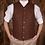 Thumbnail: 1923 Buccaneer Vest rust brown wool