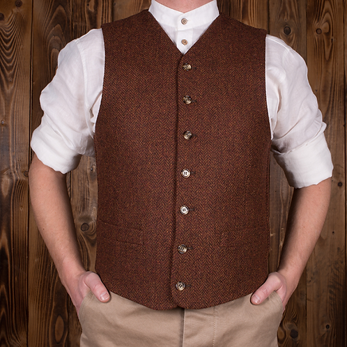 1923 Buccaneer Vest rust brown wool