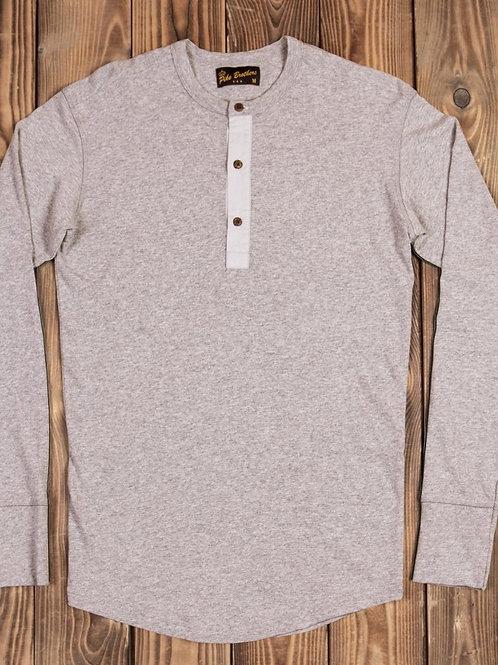 1927 Henley Shirt long sleeve fog brown 22