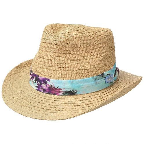 Chapeau de Raphia Bluemont Western nature