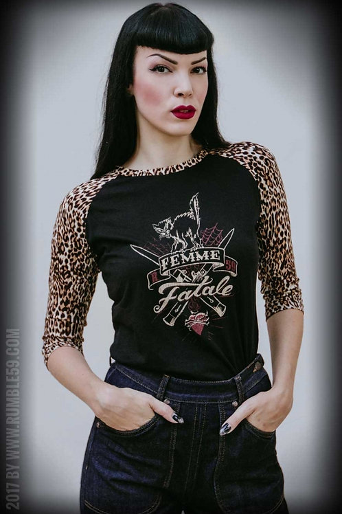 Ladies Raglan Shirt with leo patcH