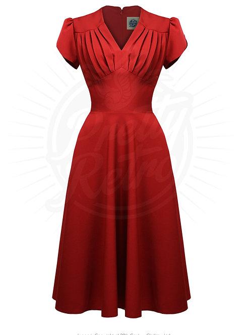 Retro 50s Swing Dress in Red