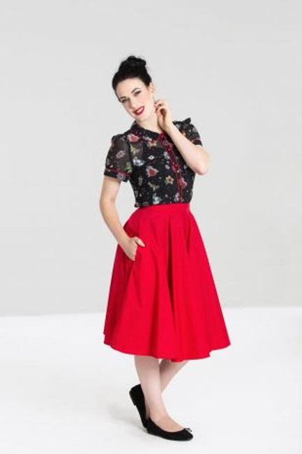 Paula 50'S Skirt red