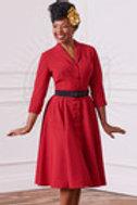 Retro 50s Shirtwaister Dress in Red