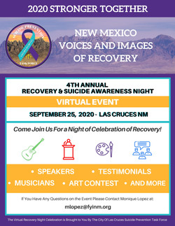 Recovery Night Flyer Event Schedule
