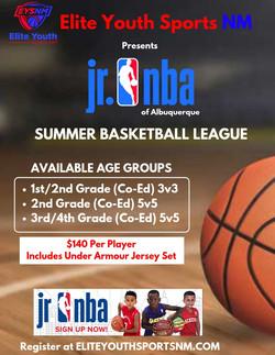 EYSNM Jr NBA basketball school flyer