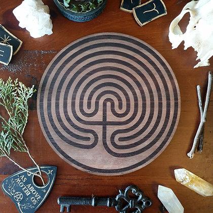 Hekate's Labyrinth // Finger Labyrinth Tile // Magickal Decor