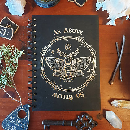 Wood Covered Journal // Witchy Diary // Book of Shadows