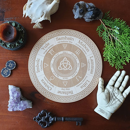 Triquetra Wheel of the Year // Pagan Witch Calendar Board