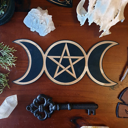 Triple Goddess Altar Tile // Magickal Decor