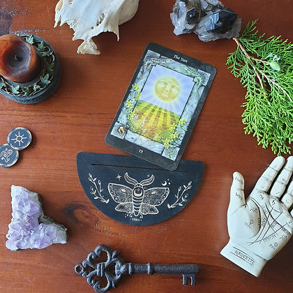 Moth Card Stand // Tarot Oracle Affirmation Card Display