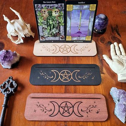 Triple Goddess Tarot & Oracle Card Display Stand