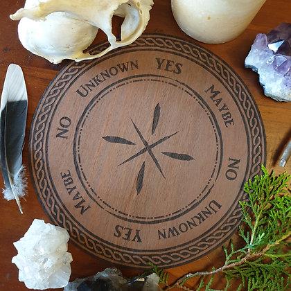 Wooden Pendulum Board // Celtic Pendulum Guide // Laser Engraved Answers Board