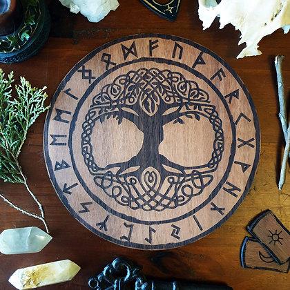 Tree of Life Altar Tile // Yggdrasil Norse Viking Tile // Magickal Decor