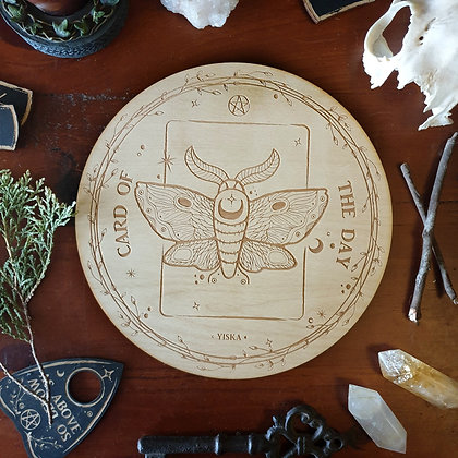 Moth Card of the Day Board // Tarot Oracle Card Board