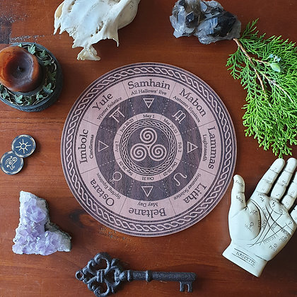 Triskele Wheel of the Year // Pagan Witch Calendar Board
